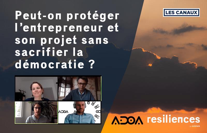 """Featured image for """"Revoir notre webinar «Peut-on protéger l'entrepreneur et son projet sans sacrifier la démocratie»"""""""